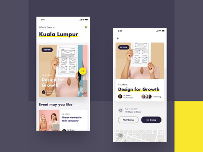 Event App Exploration discovery feed schedule date booking mobile app event app web clean app e-commerce typography icon iphonex dribbble flatui dailyui ux uiux ui