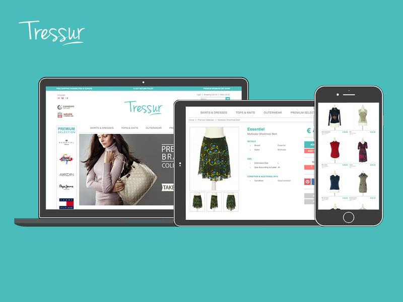 Tressur adobe photoshop adobe illustrator ux ui responsive design webshop axure