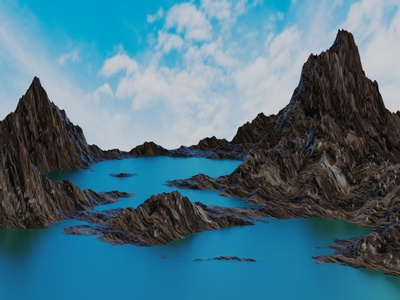 Landscape Design animation mountain 3d modeling environment design 3d art blender blender3d