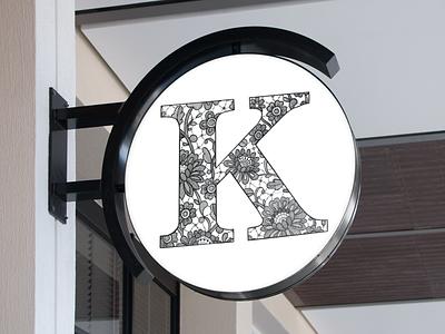 Sign Mock-up package design lace logo lettering art lettering
