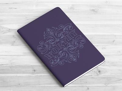 Notebook Design stationery design lettering lettering art journal stippled notebook mockup notebook design