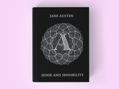 Jane Austen Book Cover illustration lettering lace lettering art book cover design book cover art