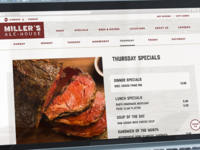 Miller's Ale House Specials Page