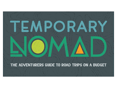 Temporary Nomad Business Card adventure road trip graphic design