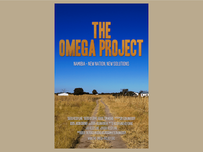 The Omega Project Poster food security documentary namibia graphic design