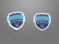 Waxhaw soccer logo sticker mockup