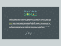 About Temporary Nomad