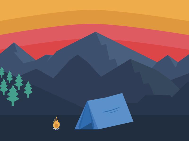Camping Illustration camping adventure wanderlust illustration graphic design