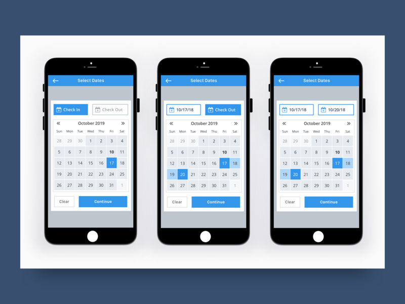 Mobile Date Picker date picker mobile ui