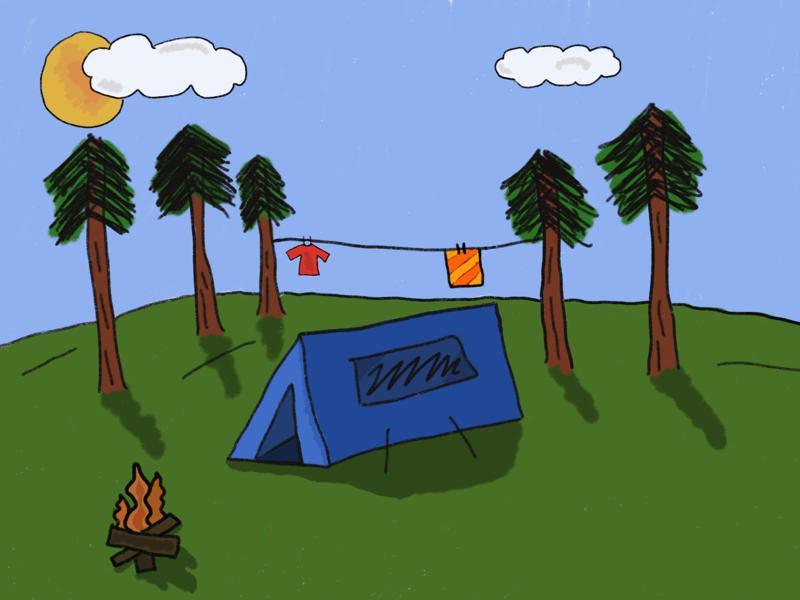 Camping Sketch ipad pro procreate