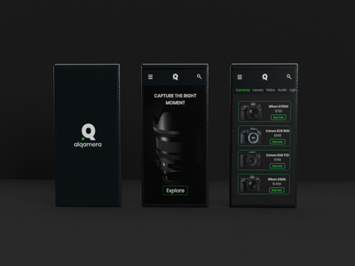alqamera App graphic design phone digital camera mobile ui ecommerce app ux visual  identity branding brand identity brand design ui