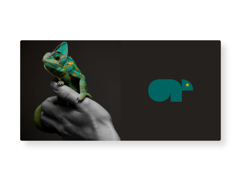 Chameleon Logo brand identity icon graphic design design visual  identity vector logo design logo a day branding logo