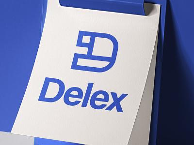 Delex Logo Design typography brand identity branding vector graphic design brand design visual  identity logo logo a day logo design