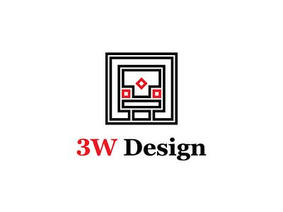 3W Design Logo flat brand design brand identity visual  identity typography vector logo design logo logo a day