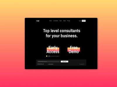 Consulting UI Concept typography web app ux graphic design design vector visual  identity ui