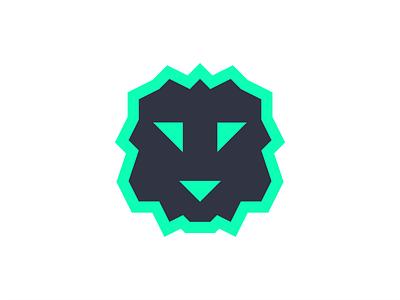 Lion Electronics Logo electronics electronic vector lion minimal flat icon brand identity visual  identity branding brand design logo a day logo design logo