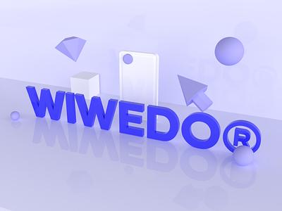 wiwedo icon design brand design branding typography logo design brand identity 3d logo 3d modeling 3d visual  identity logo