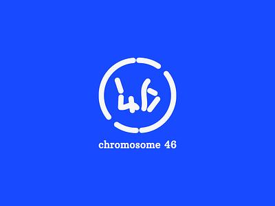 Chromosome 46 Logo design design flat graphic design vector brand identity branding typogaphy logo a day logo