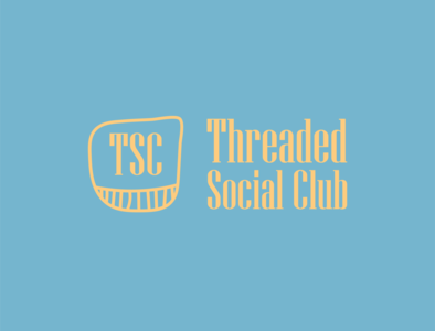 Threaded Social Club logo design
