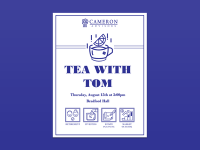 TEA WITH TOM poster