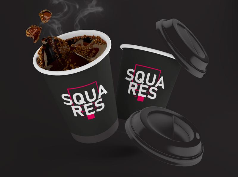SQUARES Logo Design & Identity vector typography brand design graphic design brand identity branding visual  identity logo design logo a day logo