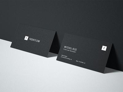 Frontflow mockup frontflow business card branding