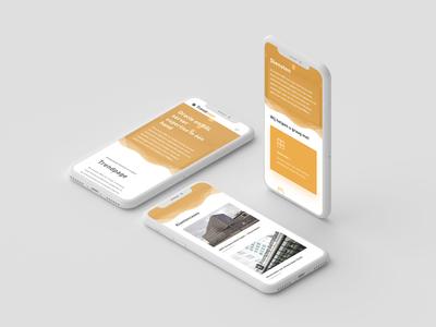 Trendpage mobile mockup branding webdesign uiux