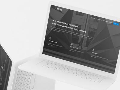 Trias Rechtshulp logo branding mockup uiux webdesign