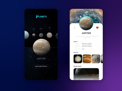 Daily UI Profile Page (Planets Edition)