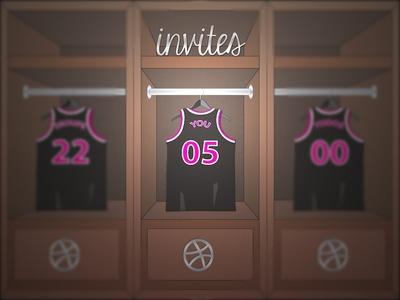 Locker Invite locker basketball dribbble invites jersey players ball sports