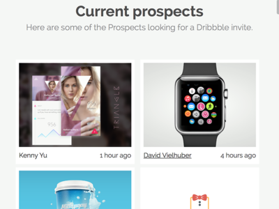Cribbble Prospects Page cribbble prospects dribbble invite talent