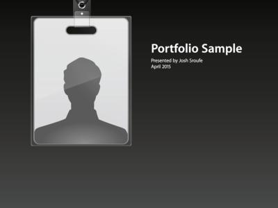 Portfolio Sample Cover (Some pages attached) apple badge portfolio