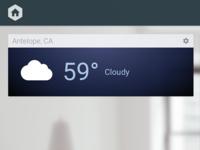 Weather dashboard card
