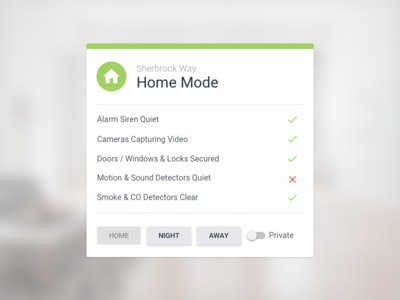 Smart Home Security Widget home aegis home-kit connected devices smart home wink security