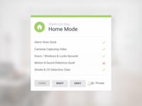 Smart Home Security Widget