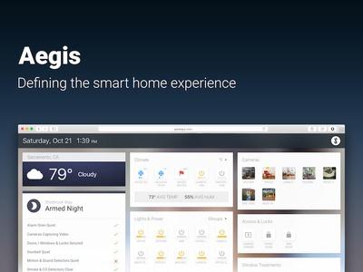 Aegis | Defining the smart home experience smartthings automation iot smart home wink