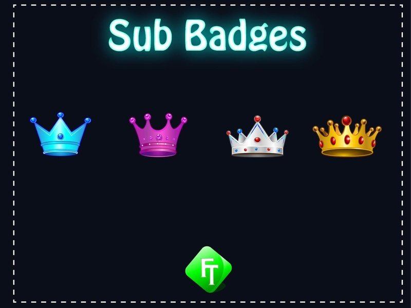 crown sub badges by fare_touch on Dribbble