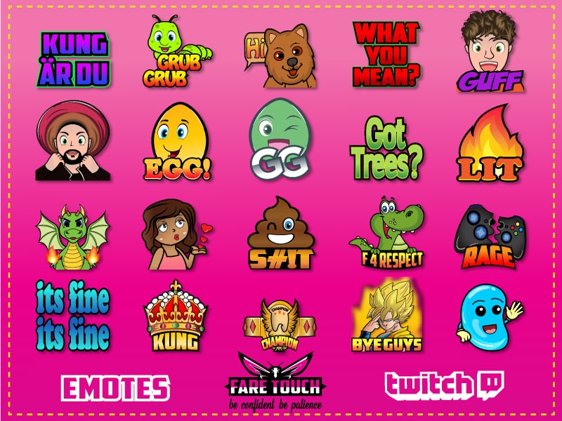twitch emote by fare_touch on Dribbble