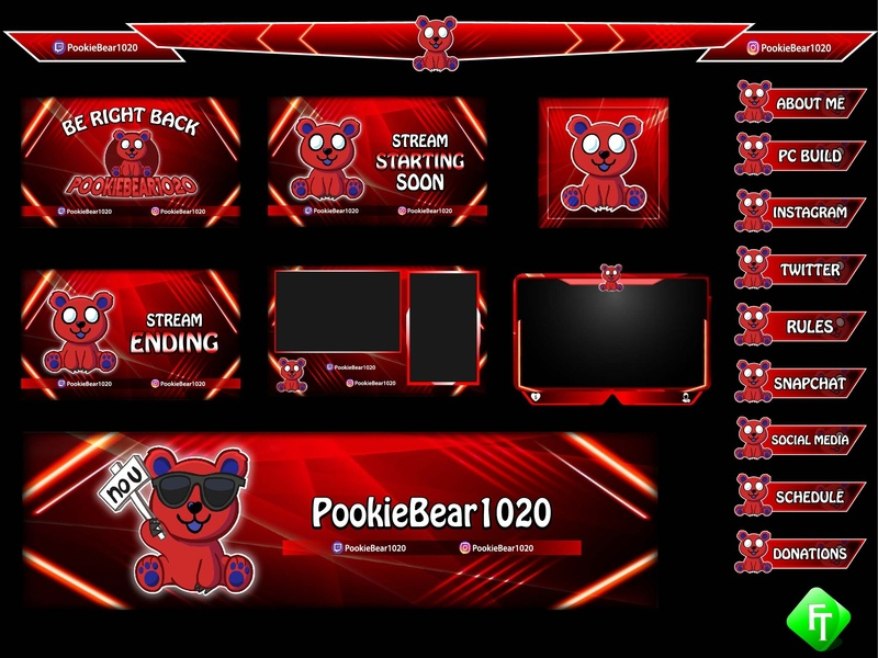 red panda twitch overlay by fare_touch on Dribbble