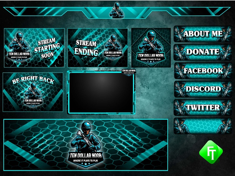 Solder twitch overlay by fare_touch on Dribbble