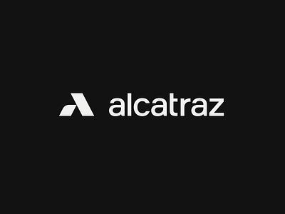 Alcatraz - Final Logo white black symbol typography logo mark security wordmark logotype mark logo branding brand