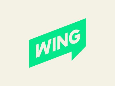Wing - Logo green visual identity identity branding and identity graphic design design typography logotype branding brand logo