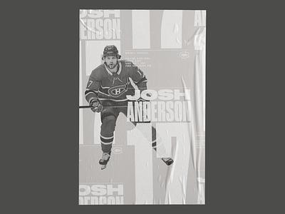 Random Sketch - 06 hockey poster design poster black and white tonal sports sport typography graphic design design print layout