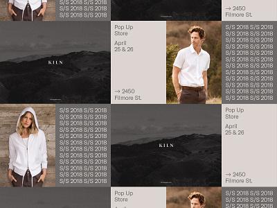 Kiln - Wild Posting fashion branding wild posting poster