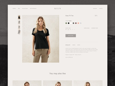 Kiln - Product Detail product detail store web website fashion ecom