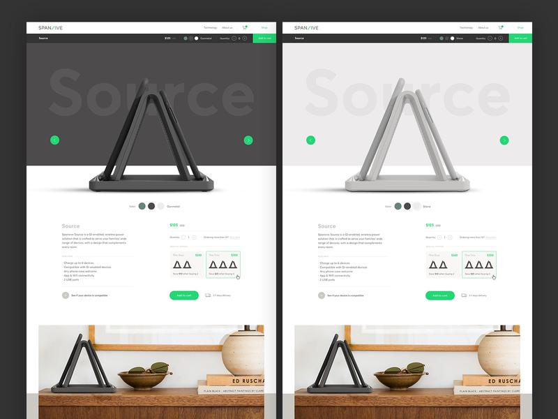 Spansive - Product Details ui design branding website web