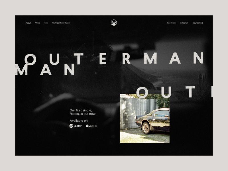 Outerman - Homepage homepage website design website web