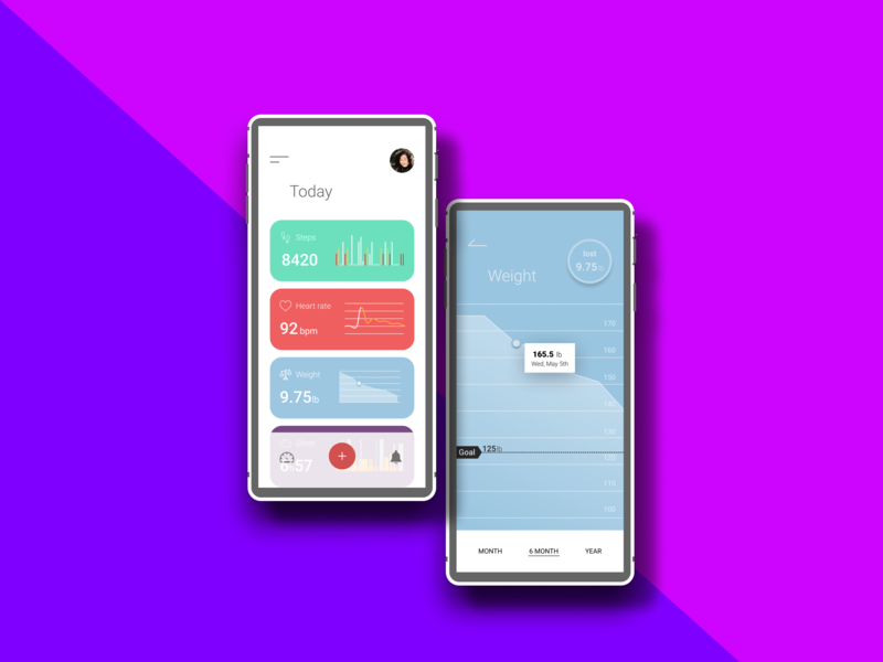 Health App logo kpi charts branding ux app concept animation icon landing page homepage ui design hello dribble ui design uxdesign heartrate walking health app weight-loss