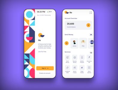 Lilo  -  Banking App Concept