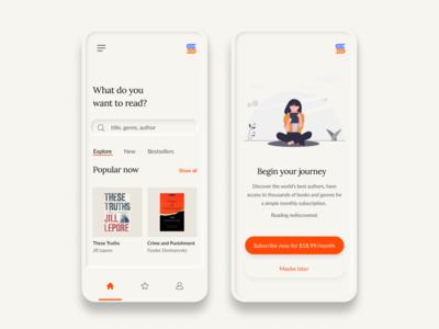 Biblio - Book Subscription App Concept
